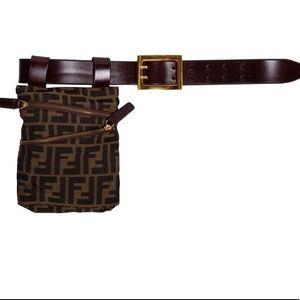 Fendi Leather Belt Bag in Zucca Print